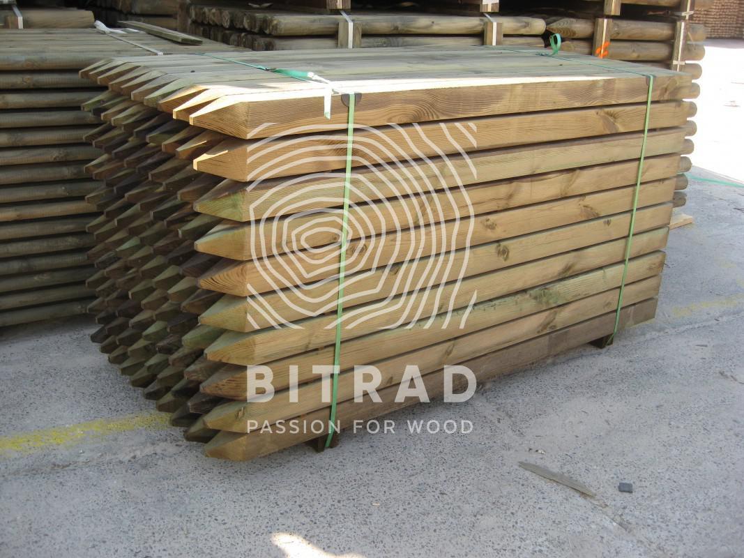 Tablas y vigas madera tratada. PPHU Bitrad